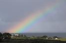 Regenbogen vorm Ferienhaus